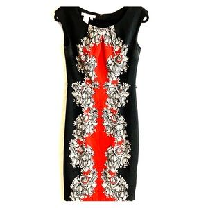 Maggy London red and black dress.
